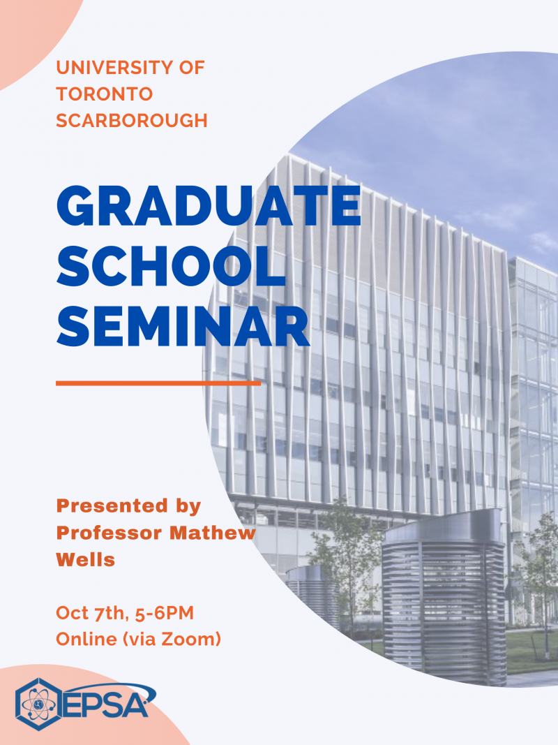 Interested in Graduate School? Come find out about the general application process and how to get references at our Grad School Seminar!