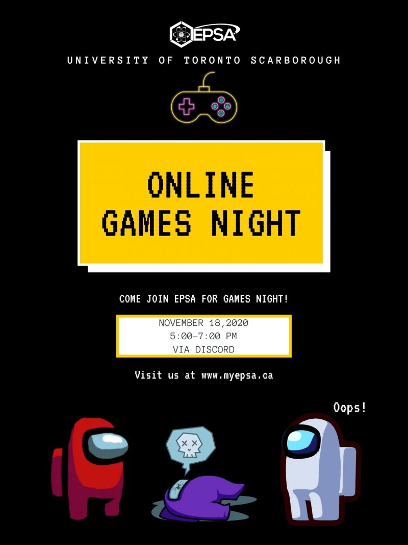 Online Games Night Fall 2020